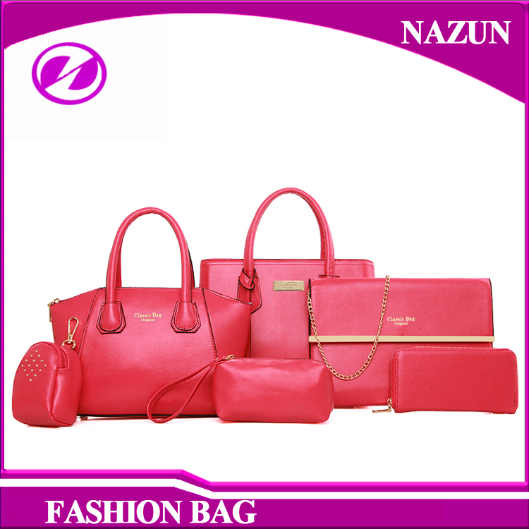 European fashion high quality pu leather set bags woman cheap handbags OEM wholesale China made new design hand bags for girls