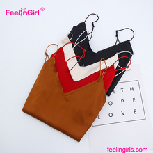 Feelingirl Wholesale Backless Hot Girl Sexy Spaghetti Strap Silk Camisole