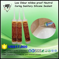 Free samples China supplier Low Odour mildew proof Neutral Curing Sanitary Silicone Sealant