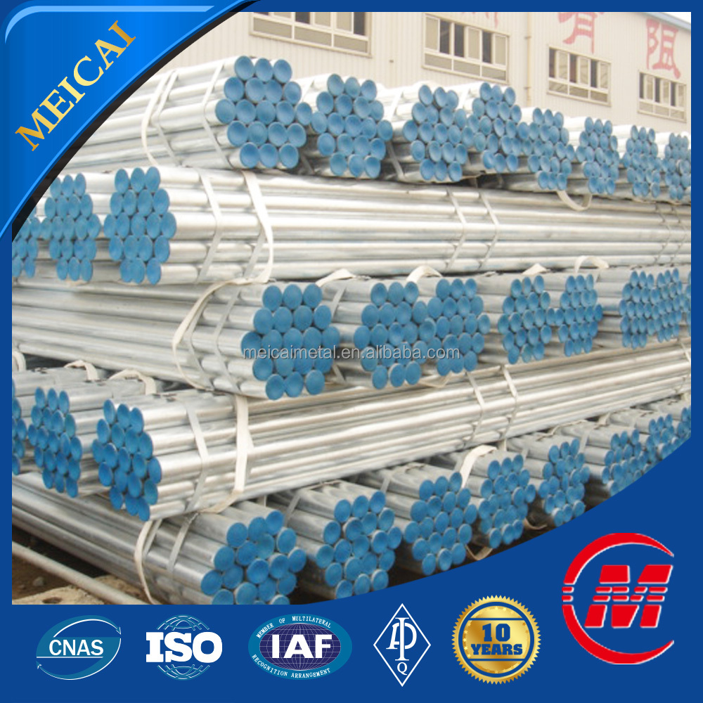 factory certification good quality round greenhouse galvanized pipe