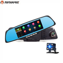 "Car Mirror Camera DVR Android GPS 6.86"" FHD 1080P WIFI Dual Lens Dash cam Rearview Mirror Video Recorder Automobile DVR"