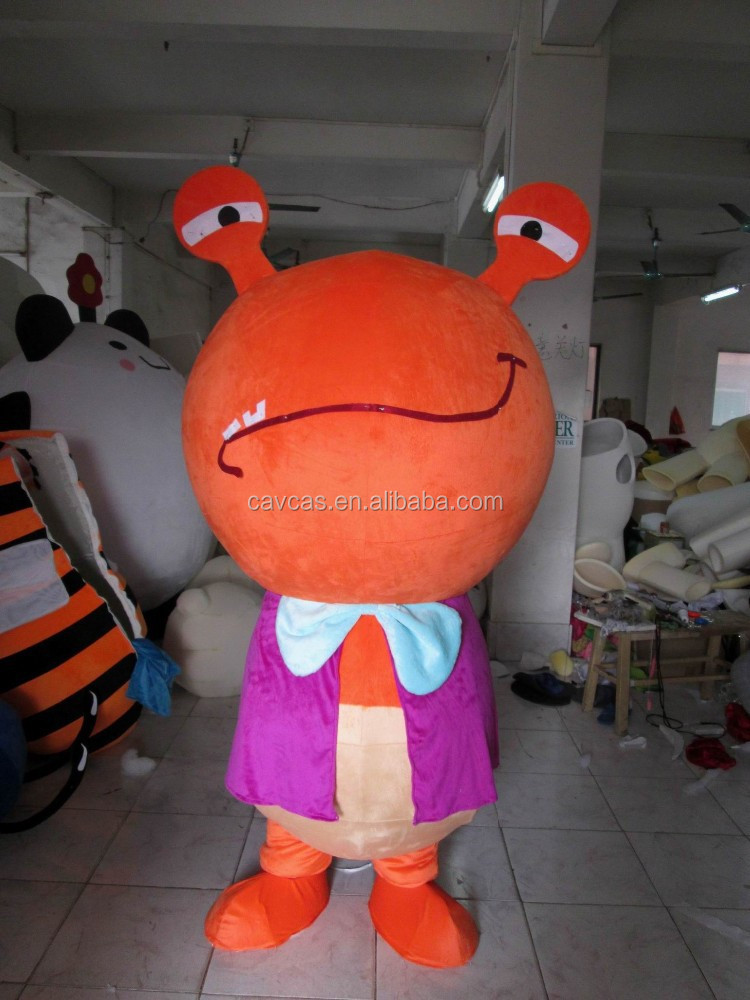 Big Head Red Snail Mascot Costume / PLush Red Snail Mascot Costume