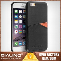QIALINO Luxurious Custom Logo Leather Blank Case For Iphone 6S