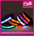 Adjustable Cartoon Dog Color Multicolor LED Flashing Collar for Pet