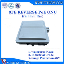 8FE Reverse PoE ONU GEPON ONU FTTH EPON ONU with 4KV Lightning Protection for Outdoor Application