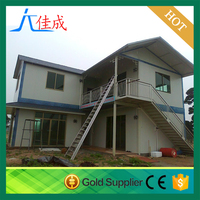 wood material light steel material prefab cheap prefabricated house tropical prefabricated house
