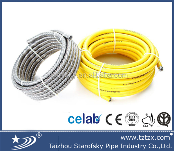 "304 EN15266 1/2"" 3/4"" dn16 dn 20 Flexible cooker gas/gaz hose"