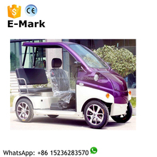 New 4-wheel 3 seats (1 driver seat and 2 passengers seat) electric sightseeing vehicle / car for sale