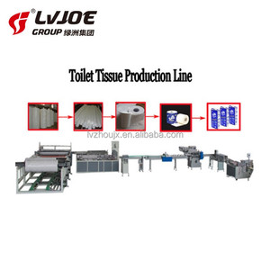 Toilet paper production line / toilet paper making machinery, toilet tissue making machine