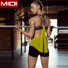 Keep Dry Fit Sports Clothing Mesh Stringer Tank Top Wholesale Women Sexy Yoga Singlet