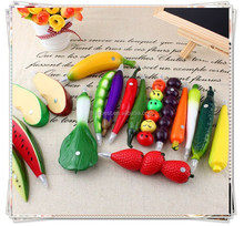 TL- 09 Fruits and vegetables ballpoint pen , plastic wholesale promotional pen