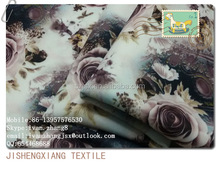 Jishengxiang textile weft knitting scuba printing fabric wholesale ready to wear woman fashion