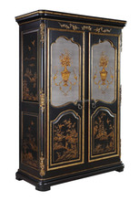 Antique design Chinese style hand painted solid wood two doors wardrobe