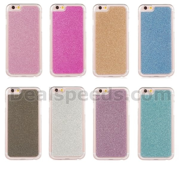 Glitter Powder Bling Diamond Ring Kickstand TPU Case for iPhone 6s Plus Case