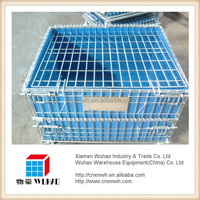 stackable metal quail cage,storage bin,foldable collapsible crate