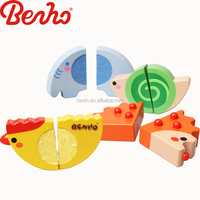 Tactile Animals Wholesale Colorful Wooden Baby Toys