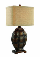 customized decorative painted poly resin Tortoise Table Lamp