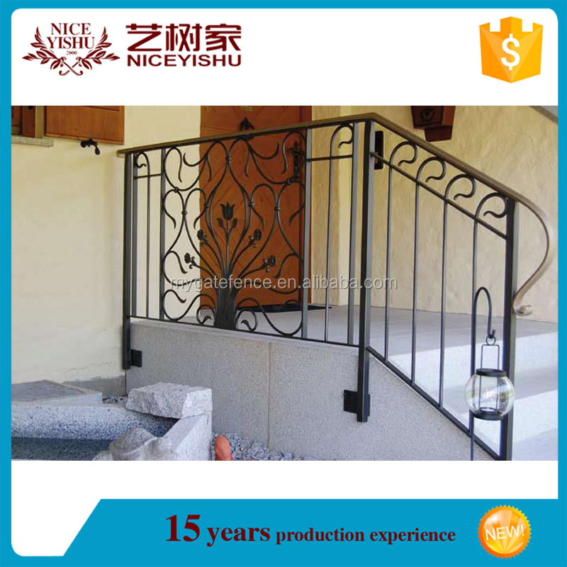beautiful alibaba New simple cheap outdoor metal handrail for steps for homes /luxury ornamental aluminum balcony balustrade