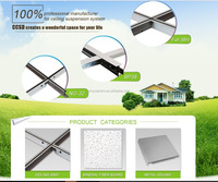 2016 super quality Suspended Steel T-bar Size with Groove for ceiling tiles