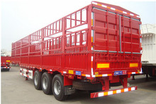 2017 china hot sale 50ton 3 axle animal feed transport fence semi trailer