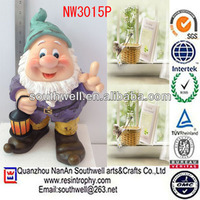 purple christmas santa claus figurines outdoor