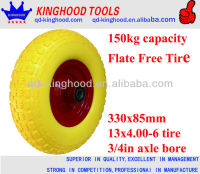 Farm Wagon Hand Trolley Wheel Flat Proof Tire