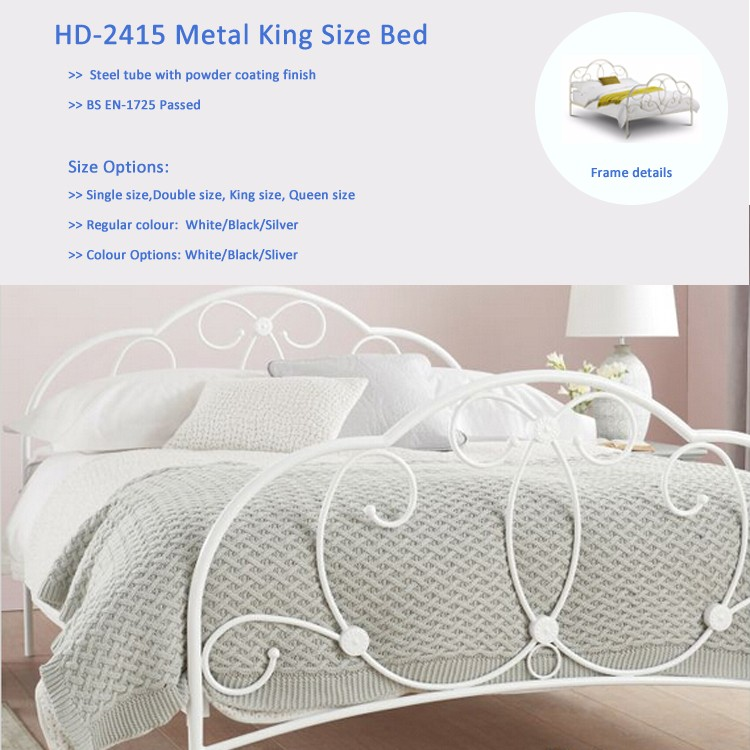 Home wrought iron double bed
