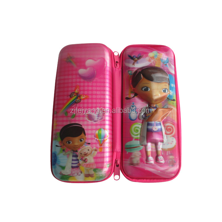 Lovely pet plastic pencil pouch case, school eva pencil bag for gift
