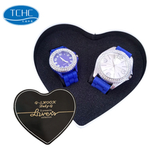 TCHC Custom Logo Heart Shape Couple Watches Metal Watch Box