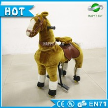 2016 Popular Top quality walking mechanical horse, plush ride on horse toy, pony riding horse