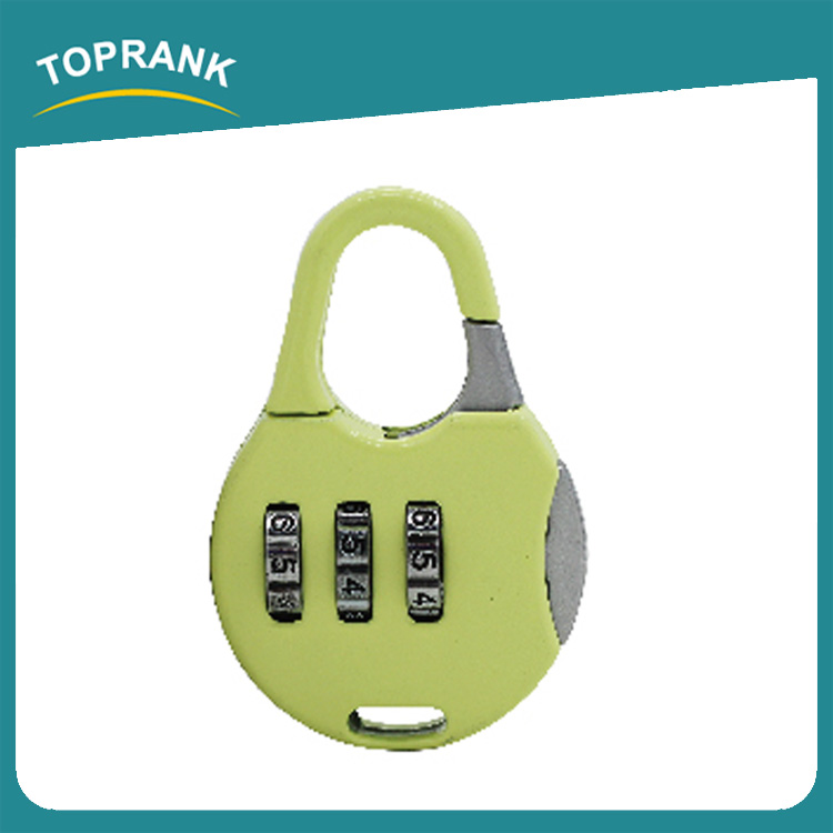 Toprank Manufacturer Customized Design Resettable Combination TSA Padlock 3 Digit Password Padlock For Luggage