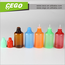 2015 best selling plastic colors dropper bottles thin top bottles for e-liquid 10ml 20ml plastic dropper bottle