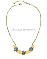 PAVE HEXAGON PLATE NECKLACE JEWELRY