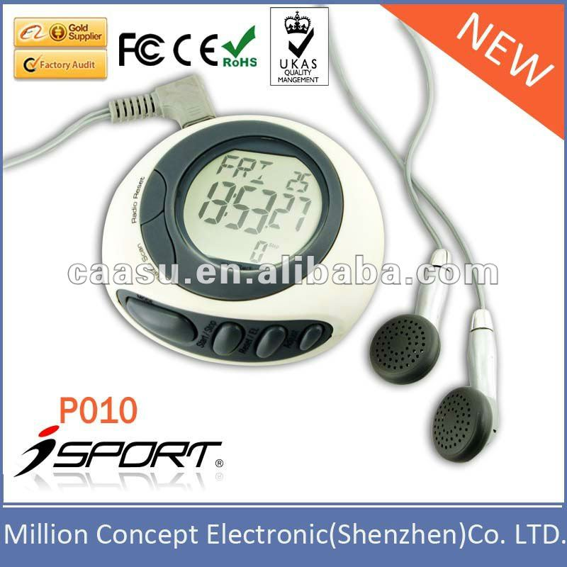 Multifunction FM Radio Stopwatch Alarm Clock Pedometer