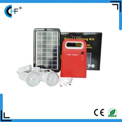 3w 9v LED Mini Solar Kits System Mobile Home Solar Panel System for outdoor camping lighting for Africa