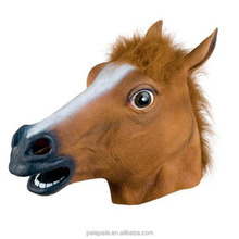 Creepy full face head Horse Rubber Animal Mask latex party Animal kids Halloween Masquerade Party Mask