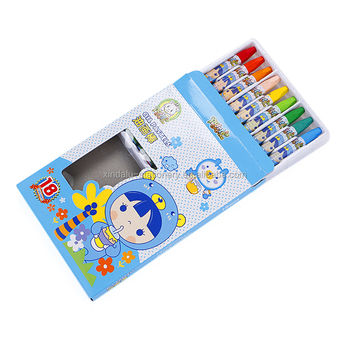 Manufacturers price multi color school stationery set beautiful wax crayon