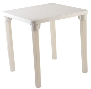 High quality white color outdoor plastic table with remove legs