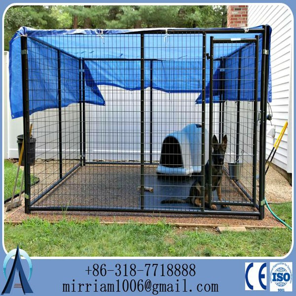 Galvanized chain link breeding dog cage/dog kennel for sale(Anping Baochuan)