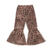 Wholesale  high quality leopard pants  baby girl big bell bottom leggings