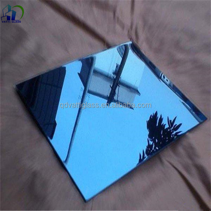 Blue Color Mirror Sheet Glass/Decorative Wall Mirror Glass