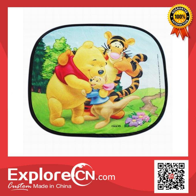 Cartoon style mesh car side sunshade