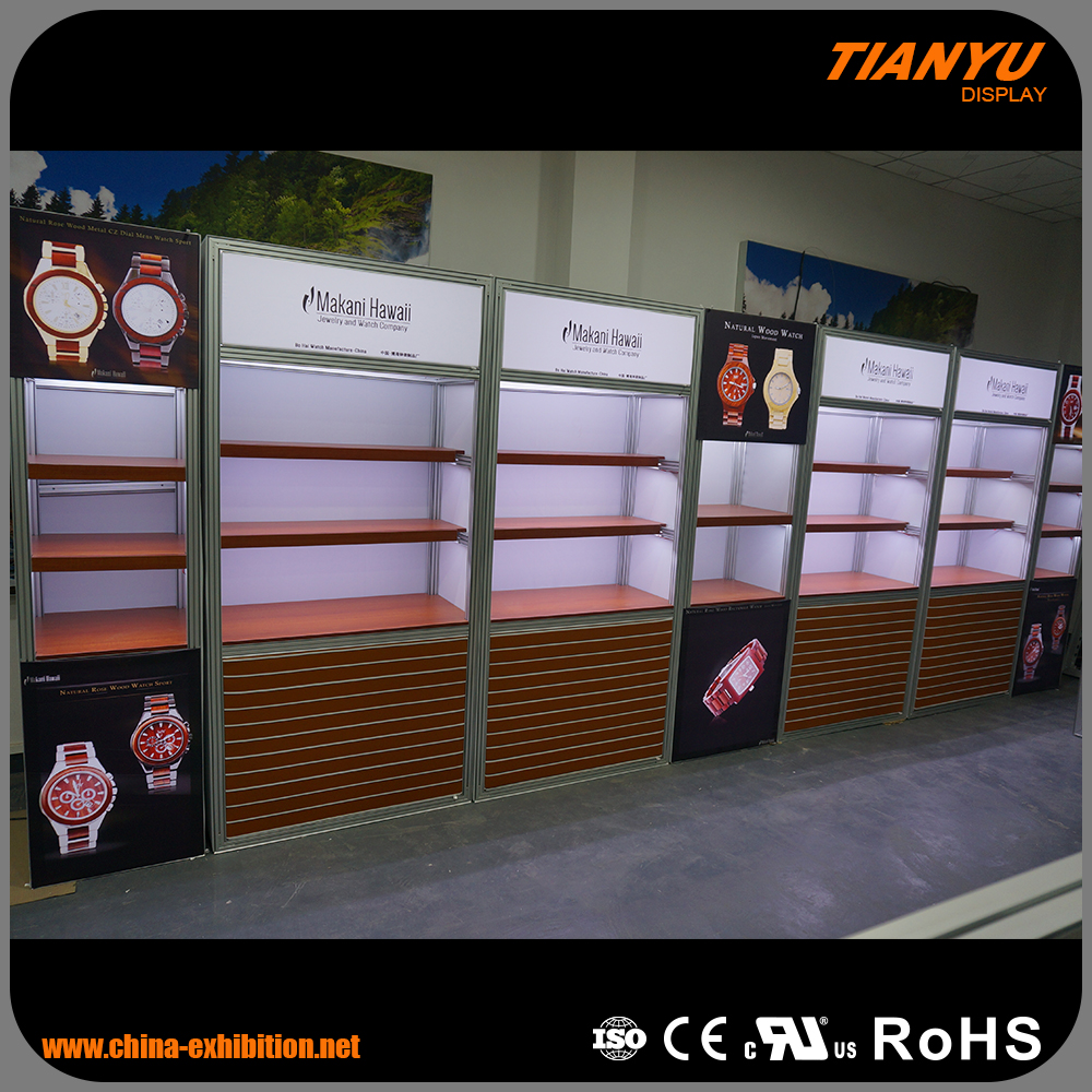 New fashion aluminum china exhibition booth design for coffee