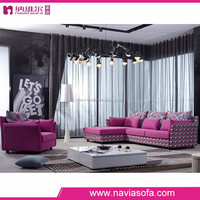 Alibaba new arrival Living room furniture sectional pink colorful modern sofa from China foshan