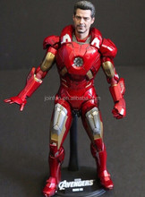 iron super hero pvc action figure for gift, 12-inch custom action figure, plastic pvc custom action figure