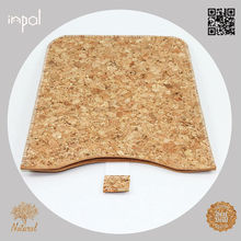 2013 Top rated natural colour cork leather case for ipad mini cork for kids