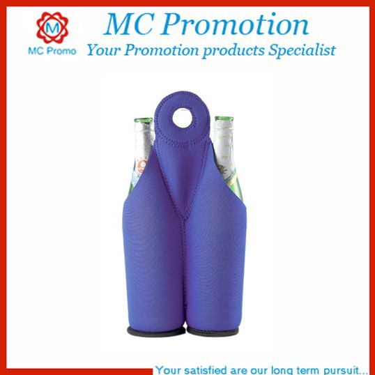 2 Bottle Neoprene Protection Tote bag Holder for Travel/Picnic