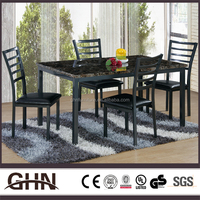Solid wood antique factory sale metal leg UB MT845 korean dining table with great price