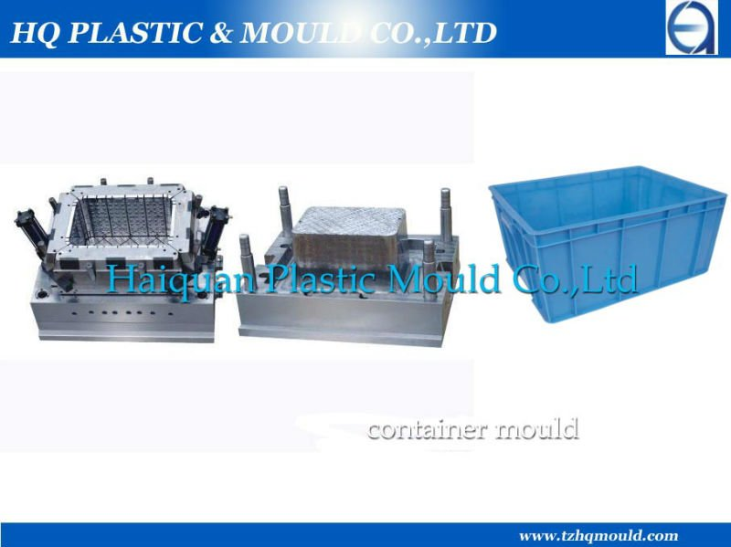 good quality turnover box mould,fish crate injection mould,plastic mold