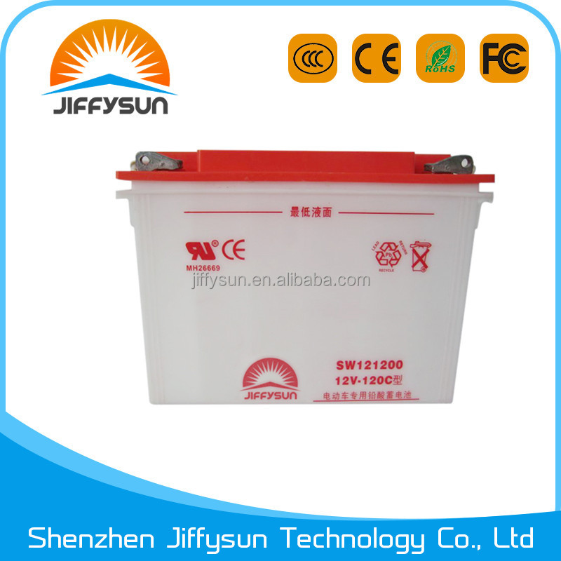 High quality Tubular 6-DG-120 electric tricycle battery battery powered auto rickshaw